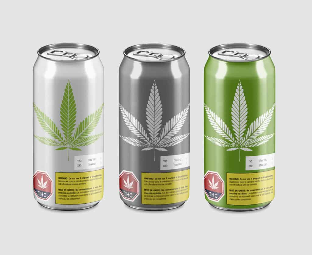 Cannabis beer with THC