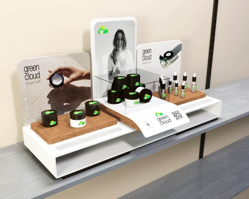 Cannabis tincture display